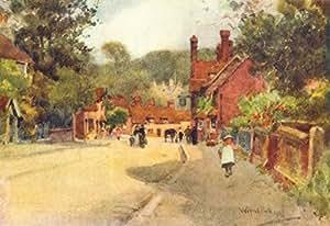 Beaulieu. Joli Village View. Hampshire–1909–Old Antique Vintage imprimé art–Photo 40x de Hants