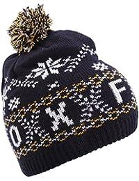 Unisex Fairisle Pattern Oxford Winter Bobble Hat