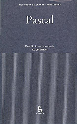 Pascal (GRANDES PENSADORES) por BLAISE PASCAL