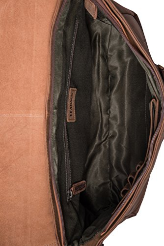 LEABAGS Oxford Umhängetasche aus echtem Büffel-Leder im Vintage Look - Muskat Fox