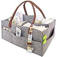 Preisvergleich für Todaytop Kindergarten Aufbewahrungsbox Wickeltasche Babytasche Auto Organizer Portable Halter Tasche Filz Baby Windel Caddy Organizer für Windeln und Baby Tücher