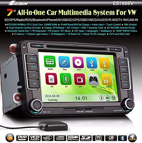 Erisin es7698V coche Multimedia estéreo de coche reproductor de DVD de coche para Golf 56Passat CC Tiguan Sharan Caddy, Jetta Seat
