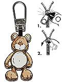 Unbekannt Zipperanhänger -  NICI - Teddybär  - Anhänger für Reißverschluss - Zipper - für Kinder / Mädchen & Jungen - Reißverschlußanhänger - Jacken Reißverschlüsse -..