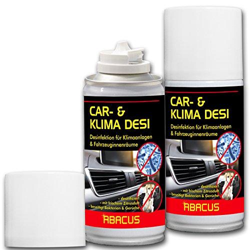 ABACUS CAR DESI 2X 200 ml (7301) -Klimareiniger Klimaanlagenreiniger Klimadesinfektion Klimaanlagendesinfektion Klima Anlagen Reiniger Desinfektion-Air Conditioner AC-Cleaner -