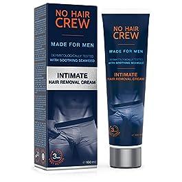NO HAIR CREW Crema Depilatoria Intime di Prima Qualità – Per Uomo 100 ml