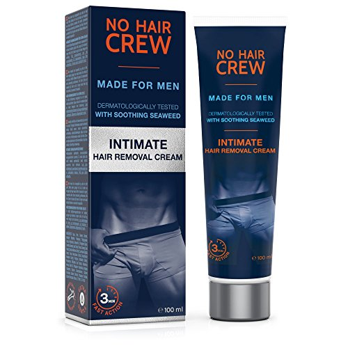 NO HAIR CREW Crema Depilatoria Intime di Prima Qualità - Per Uomo 100 ml