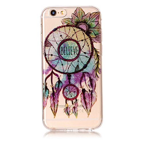 iPhone 6S Plus Hülle ,Fodlon® Ultra Slim Fit TPU Gel Skin BlinkenPulver Schutzhülle / Case / Cover -Zweige Pflaumenblüte Blütenglocken