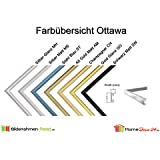 Bilderrahmen Ottawa Echt Aluminium Posterrahmen 30x90 cm 90x30 cm Farbwahl hier Schwarz Matt mit Antireflex Acrylglas