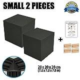 Super Dash (2 Pieces) von 20 X 20 X 20 cm Würfel-Ecke Bass Strap Akustikschaumstoff Noppenschaumstoff Akustik Dämmmatte Schallisolierung Schaumstoff Polster Fliesen