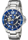 Stuhrling Original Regatta Makran Men's Automatic Watch with Blue Dial Analogue Display and Silver Stainless Steel Bracelet 772.02