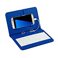 Cewaal Wired Keyboard Flip Holster Case Cover For 4.5''-6.5'' Inch Andriod Phone with OTG Function