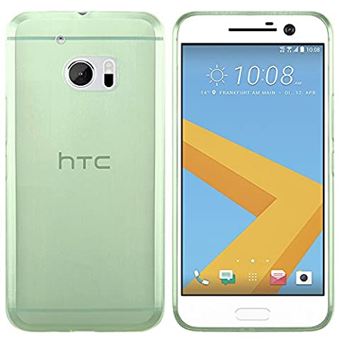 Coque HTC 10 - moodie Coque Silicone Protection Case Cover HTC 10 - Vert-transparent