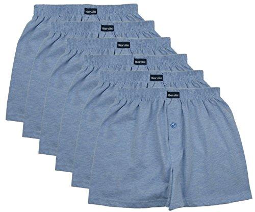 MioRalini 6 Herren Boxershorts in klassischen Farben 100% Baumwolle ohne Seitennaht Seamless Grösse 5 -10 Set08