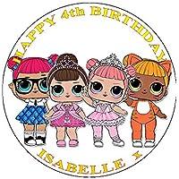 LOL Surprise Dolls - Decoración para tarta de glaseado (19 cm), diseño redondo