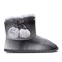 Rocket Dog Womens Womens Snowflake Squad Bootie Slippers in Charcoal - UK 6