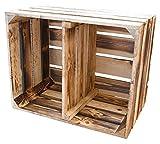 12er Set Geflammte Kiste für Schuh-und Bücherregal 'quer' 50x40x30cm