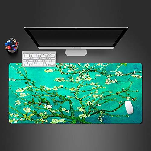Mauspad 900X400*3Mm Edle Kunst Pflanze Mauspad Super Hd Gummi Mauspad Laptop Keyboardgamer Wettbewerb Schnelle Große Tischset - Hd-gummi