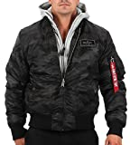 Alpha Industries Herren Bomberjacke MA-1 D-Tec Flight Camouflage 2XL
