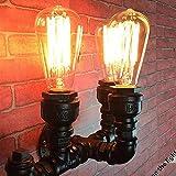 3-lights Retro Industrielle Wasserpfeife Wandleuchte Steampunk Schwarz Metall Schmiedeeisen Wandleuchte Wandlampen Dekorativen Gang Küche Lager Loft