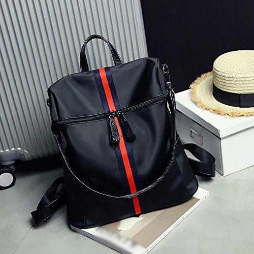 Nuova versione coreana della moda dell'onda di sacchetto degli allievi del vento di college del sacchetto di spalla femminile / ad alta capacità / femmina selvaggia dello zaino selvaggio ( Colore : Wh Blue and red
