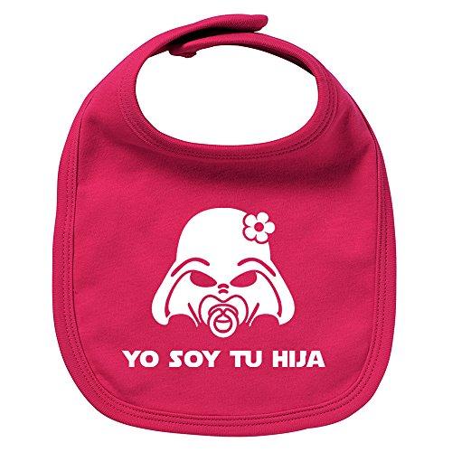 Babero de bebé Yo soy tu hija (Yo soy tu padre - Darth Vader / Star Wars - parodia). Regalo original. Babero bebé divertido. Bebé friki. (Granate)