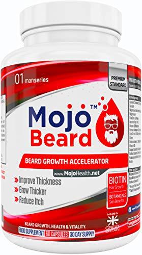 MOJO-BEARD-Beard-Growth-Supplement-Mens-Vitamins-Pills-Tablets-Formula-Treatment-Capsules-Accelerator-Men-Natural-Hair-Serum-Shampoo-Oil-Treatment-Cream-Essence-Products-MONEY-BACK-GUARANTEE