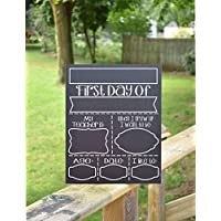 Merle11Eleanor Chalkboard First and Last Day of School Sign - 1st & Last Day Chalkboard Sign, Chalkboard School Sign, Back to School Board, Back to School