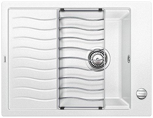 Preisvergleich Produktbild Blanco ELON 45 S, Küchenspüle, Granitspüle aus Silgranit PuraDur, 1 Stück, weiß, 520993