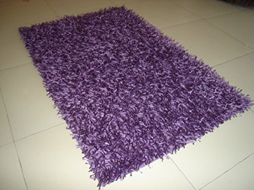 Purple Cotton Polyester Blend Carpet/Rug (Polyester & Polyester Blend, 3 x 2)