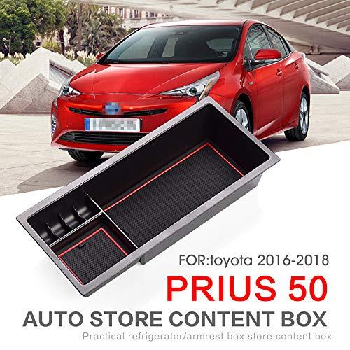 L&U Auto Front Mittelarmlehne Empfangstablett Konsole Aufbewahrungsbox Geeignet Für Toyoto Prius 50 2016-2018