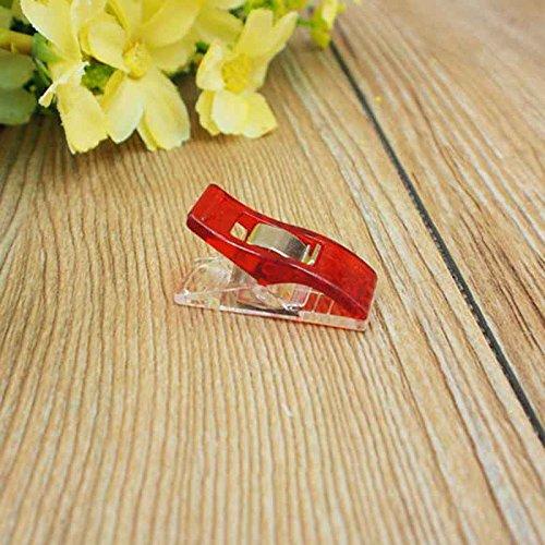 hen Handwerk Quilt Binding Kunststoff Clips Schellen Pack von 50 Clear (Boden-quilt)