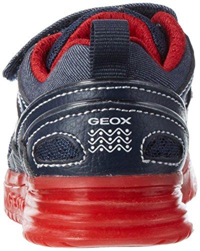 Geox J Argonat C, Sneakers Basses Garçon Bleu (Navy/redc0735)