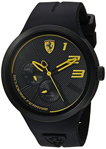 Ferrari Men's 'FXX' Quartz Plastic and Silicone Casual Watch, Color:Black (Model: 0830471) image