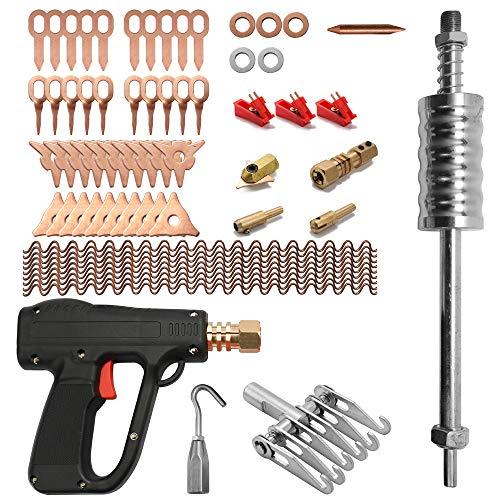 Fesjoy 66 Teile/satz Dent Repair Puller Kit Auto Reparatur Werkzeuge Hand Körper Spot Maschine Mini Schweißgerät Auto System Spotter Fix Clamp Hammer Entfernung Mini-Schweißmaschine