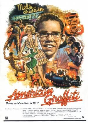 AMERICAN GRAFFITI - HARRISON FORD - SPANISH – Imported Movie Wall Poster Print – 30CM X 43CM (Graffiti Ford Harrison American)