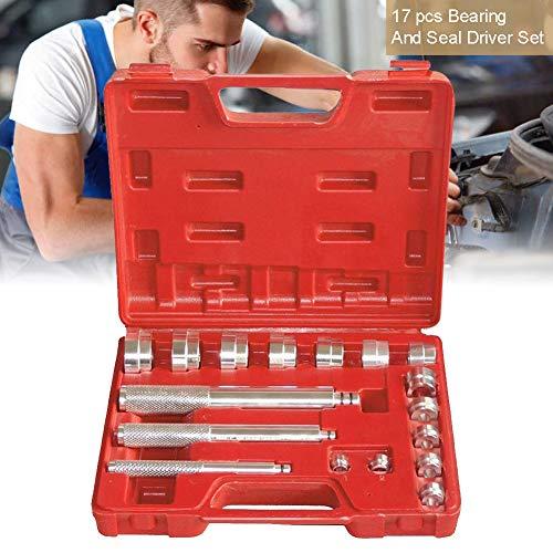 BESTEU 17Pcs Bearing Driver Aluminiumlager Race und Seal Treiber Installation Removal Tool Kit -