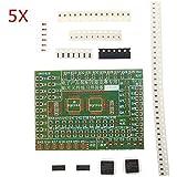 Kit Placa 5pcs DIY SMD Componentes Electrónicos ejercicios de soldadura para el entrenamiento