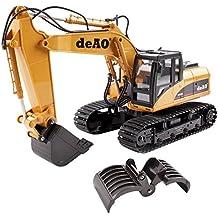 deAO RC Excavadora - Camión Teledirigido con Extensión Variable 2.4GHz Sync System para modo Multi Jugador