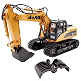 deAO RC Digger Excavator Truck with Extra Claw 2.4GHz Sync System for Multi Players