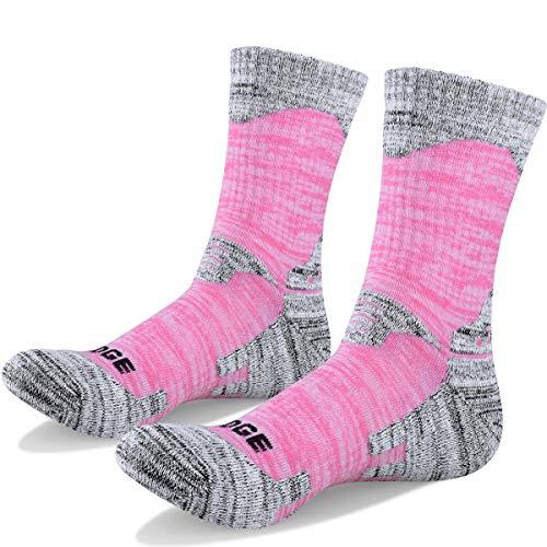 51xkKHr3MjL. SS500  - YUEDGE Women's Hiking Walking Socks 5 Pairs Anti Blister Cotton Cushion Athletic Sports Crew Socks For Ladies Year Round