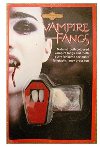 s Kappen Zähne Halloween Fancy Kleid Fake Blood Putty selbstklebend (Fake Vampir Zähne)
