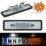 Do!LED PEL LED Kennzeichenbeleuchtung passend für Astra F G Corsa B Omega A B Vectra B Zafira mit E-Prüfzeichen => Baujahr und Bauform beachten!!!