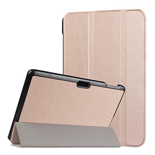 Lindo búho para Tablet de 10, diseño Universal funda de cuero tipo libro para Magic funda de piel Para 10'10Inch Android Tablet (Dragon Touch X10Tablet de 10.6pulgadas/Lenovo Tab 2A10–70F Tablet/10.1Fusion5104GPS Tablet/NeoCore B110.1Pulgadas Tablet/10.1' pulgadas Quad Core Tablet/Lenovo Tab 2A10Tablet de 10pulgadas) funda protectora funda (búho siempre Love you) &Golden