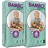 Bambo Nature Nappies (Tall) TWIN Pack - Maxi (Size 4)