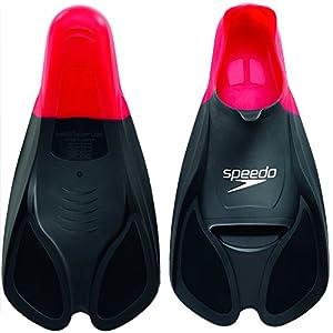 Speedo Biofuse - Pinne da allenamento, colore Rosso/Nero, Taglia 47/48