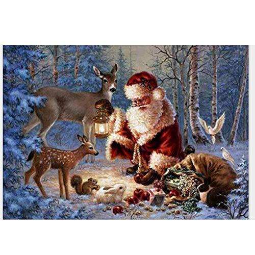 (Weihnachtsschmuck Tapisserie Wandbehang Diamant Malerei DIY Kreuzstich Abnehmbare Große Wandbild Kreative Wandtattoo Für Wohnzimmer Büro Wohnheim Und Schlafzimmer)