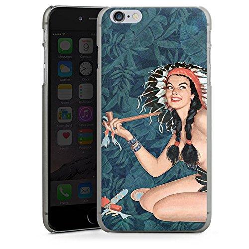 Apple iPhone X Silikon Hülle Case Schutzhülle Indianer Frau Pinup Hard Case anthrazit-klar