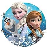 Anna,Elsa,Olaf Runde Torten Druck Bild auf A4