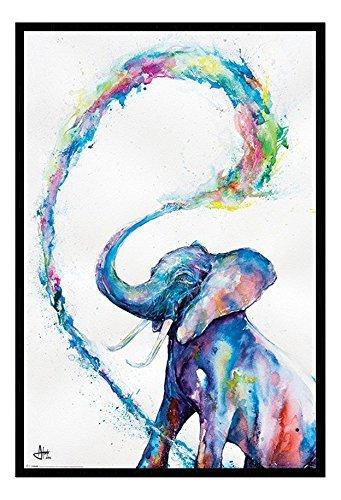 Marc Allante Elefante Poster Artistico Magnetico Bacheca Cornice Nera - 96.5 x 66 cms (Approx 38 x 26 pollici)