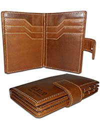 EL Mio Brand New Stylish, Classic & Royal 100% Pure & Natural Genuine Vintage Tan Leather Unisex Trendy Rustic...